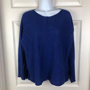 Eileen Fisher Blue Linen Light Weight Sweater MP